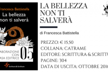 La bellezza non ti salverà di Francesca Battistella (Scrittura & Scritture) | a cura di Sandy