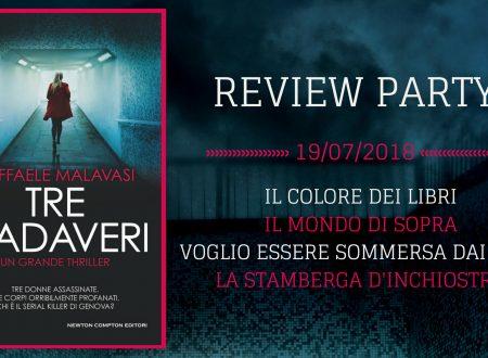 Review Party: Tre cadaveri di Raffaele Malavasi (Newton Compton Editori)